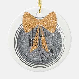 O melhor presente de Jesus nunca Ornamento De Cerâmica