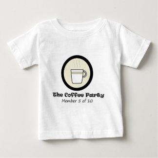 O membro de partido 5 do café de 10 tshirts