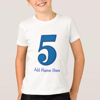 o menino do número cinco, adiciona o nome aqui t-shirt