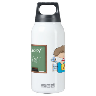 O menino pré-escolar que aprende é legal garrafa de água térmica
