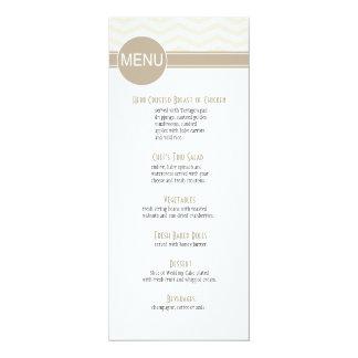 O menu chique | do comensal de Chevron cora Convites Personalizados