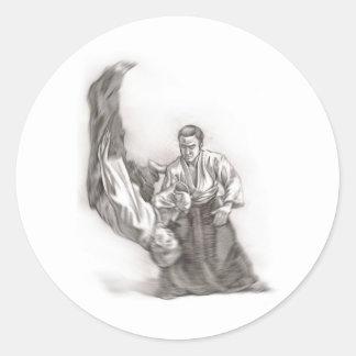 O mestre de um aikido - uso da energia do CEN Adesivo