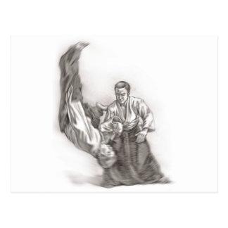 O mestre de um aikido - uso da energia do CEN Cartão Postal