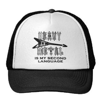 O metal pesado é minha segunda língua boné