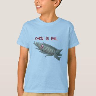 o milho é evil2 camiseta