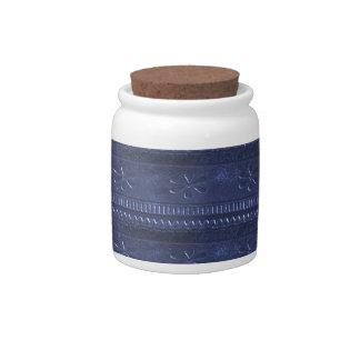 O modelo azul da textura DIY da OFERTA adiciona a Jarro De Doces