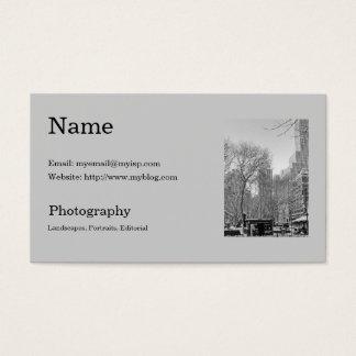 O modelo de cartão de negócios do fotógrafo