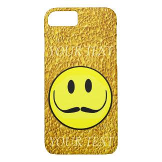 O MODELO DO OURO DO SMILEY FACE PERSONALIZA CAPA iPhone 8/7
