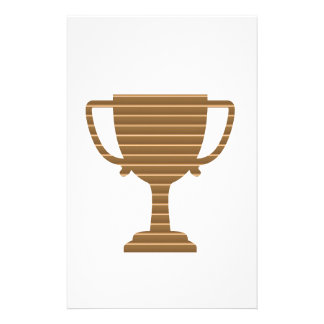 O MODELO do troféu do ouro do vencedor adiciona o Papelaria