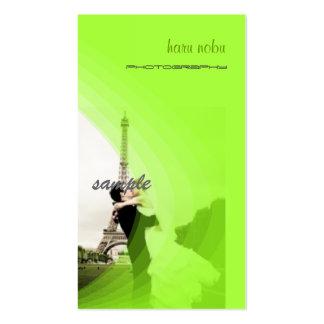 O modelo verde fluorescente da foto, adiciona seus cartão de visita