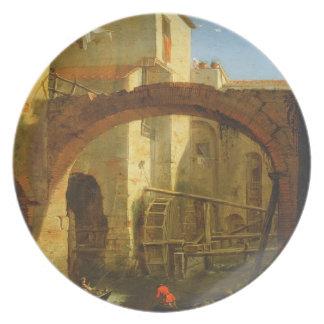 O moinho (óleo em canvas) pratos de festas