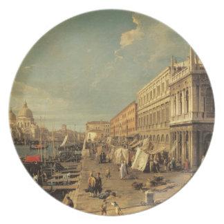 O Molo e o Zecca, Veneza (óleo em canvas) Pratos