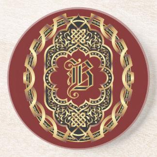 O monograma B personaliza edita o fundo da mudança Porta Copos De Arenito