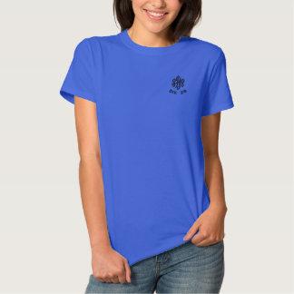 O monograma bordado das mulheres da SHP Camiseta Polo Bordada Feminina