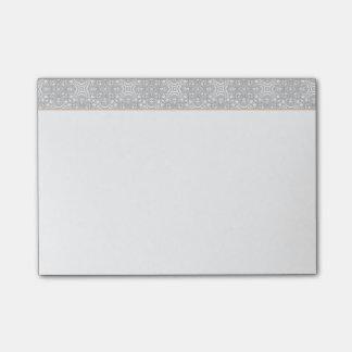 O monograma retro elegante das cinzas e da laranja sticky notes