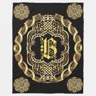 O monograma todo PERSONALIZA para mudar para trás Cobertor De Lã