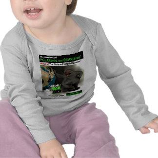 O monstro da pegada do carbono t-shirts
