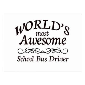 O motorista de auto escolar o mais impressionante cartão postal