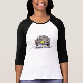 O motorista de Nissan Figaro da névoa do topázio Tshirt