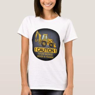O motorista futuro do Backhoe caçoa o t-shirt