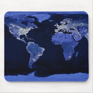 O mundo na noite - mapa, espaço