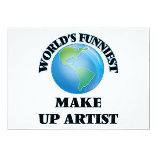 O mundo o mais engraçado compo o artista convite 12.7 x 17.78cm