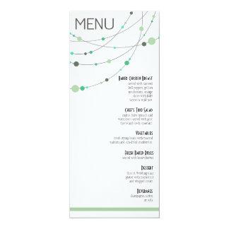 O na moda encalha a hortelã branca do menu | convite personalizado