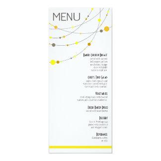 O na moda encalha o amarelo do menu | do casamento convite personalizado
