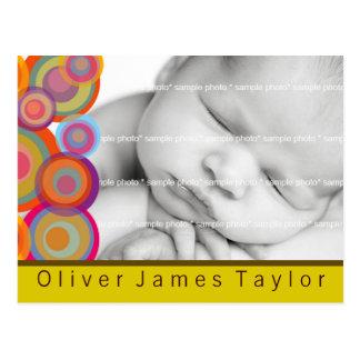 O nascimento da foto dos círculos do pop do arco-í cartões postais