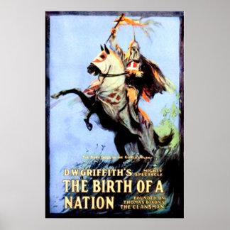 O nascimento de um cartaz cinematográfico 1915 do  pôster