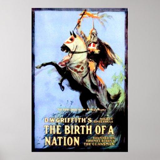 O nascimento de um cartaz cinematográfico 1915 do  posters
