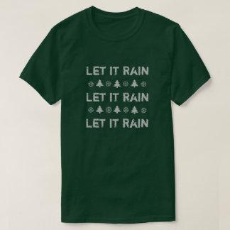 O Natal de Oregon deixou-o chover a camisa