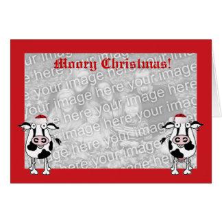 O Natal deseja o modelo do cartão da vaca da foto