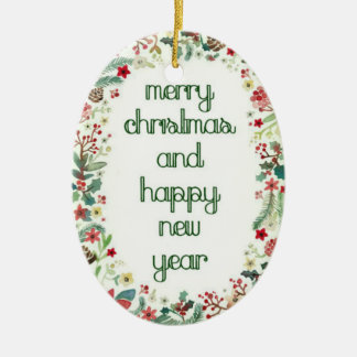 O Natal deseja o ornamento oval