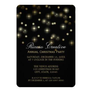 O Natal Stars o partido incorporado festivo Convite 12.7 X 17.78cm