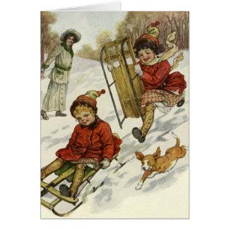 O natal vintage agradece-lhe cartão de nota