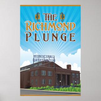 O Natatorium histórico do mergulho de Richmond Póster
