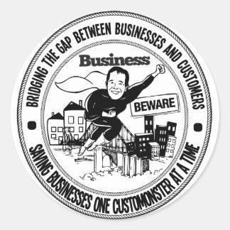 O negócio Beware o selo Adesivo