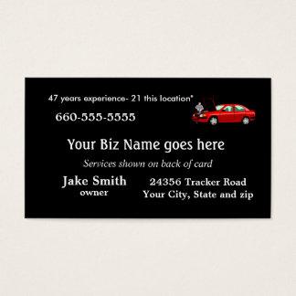 O negócio Card2- do mecânico personaliza Cartão De Visitas