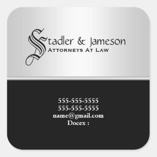 O negócio profissional | da lei do advogado adesivo quadrado