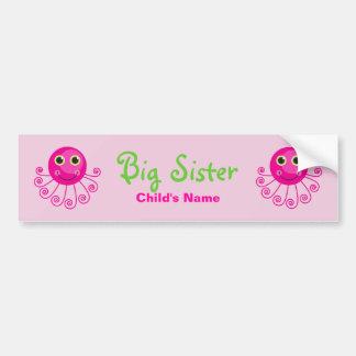 O nome da criança feita sob encomenda da irmã mais adesivo