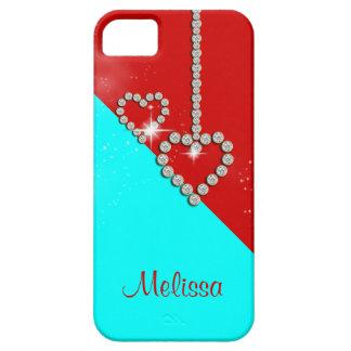 O nome das meninas do coração do diamante capa barely there para iPhone 5