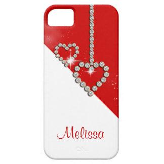O nome das meninas do coração do diamante capa para iPhone 5