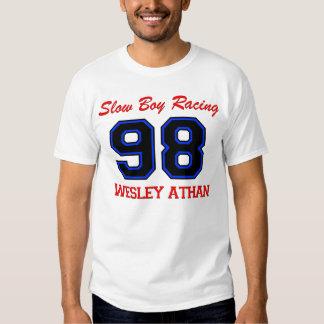 O nome de Wesley lento da parte dianteira do Tshirts