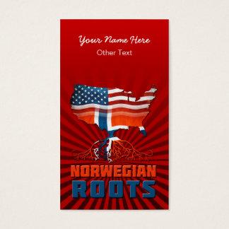 O norueguês americano enraíza cartões de visitas