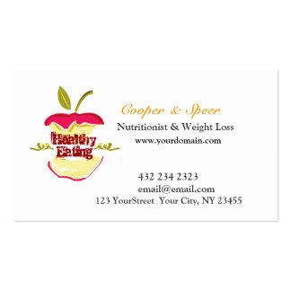 O nutricionista Apple da dietista projeta o Cartão De Visita