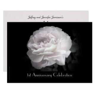 ø O convite da festa de aniversário rosa pálido