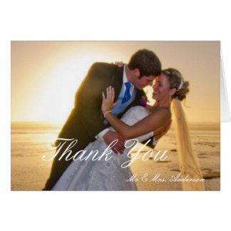 O obrigado o mais doce do casamento do dia você cartão comemorativo