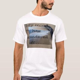 O oceano da areia da praia minha mente vagueou camiseta