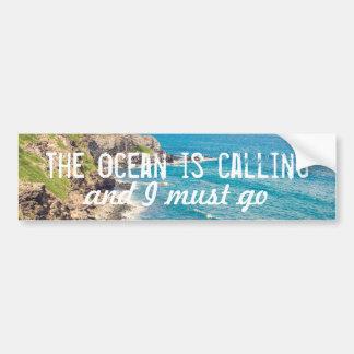 O oceano está chamando - autocolante no vidro adesivo para carro